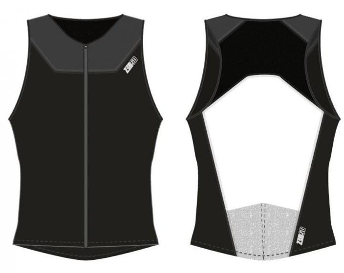 ZEROD koszulka triathlonowa START TRISINGLET czarna
