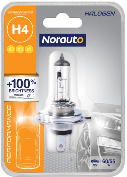 Norauto Żarówka H4 60/55W 12V Norauto Performance +100% 1szt