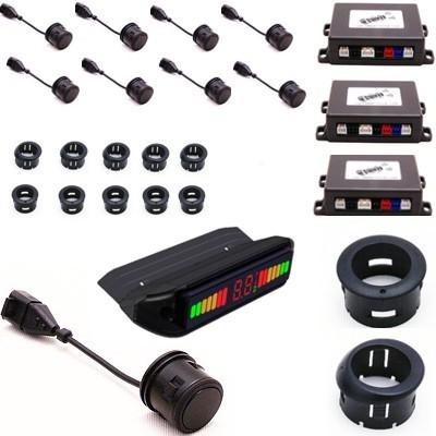 PARKSYSTEM PARKSYSTEM PS8W CZUJNIK COFANIA PRZÓD+TYŁ 8 sensorów uniwersalnych, wyświetlacz PARKSYSTEM_PS8W