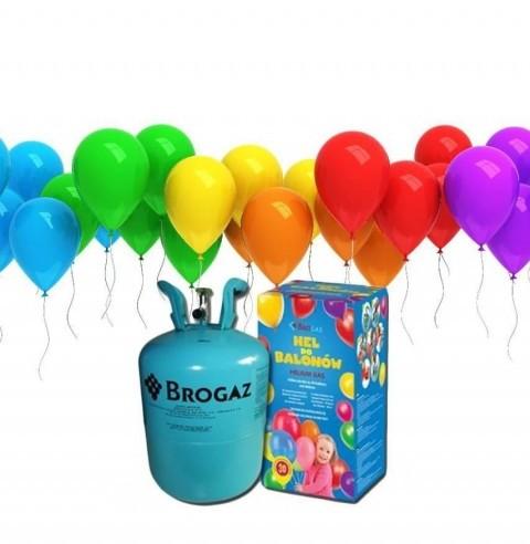 PARTY WORLD Butla z helem do balonów + 30 balonów HEL/6745