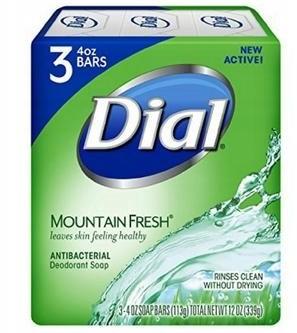 Fresh Mydło Dial Antybakteryjne Mountain 113G 3PAK