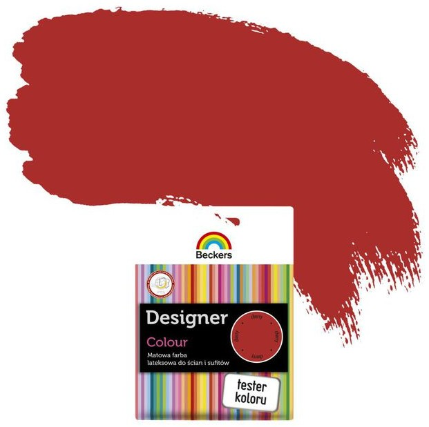 Beckers Tester farby DESIGNER COLOUR Cherry