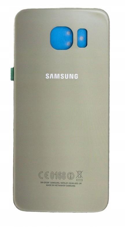 Org klapka baterii do Galaxy S6 SM-G920F - złota
