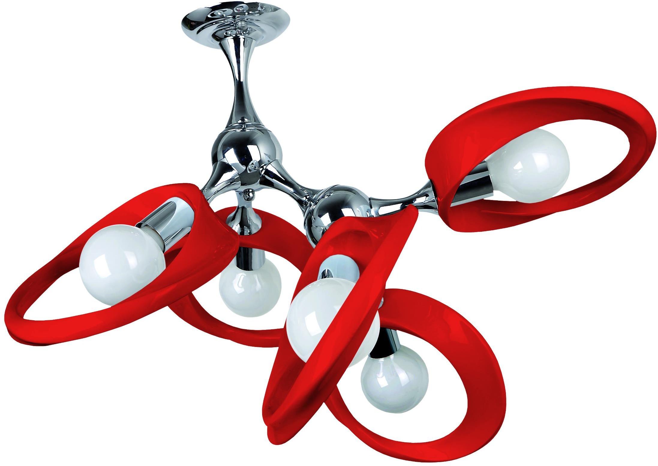 Lampex Plafon Emma 5 czerwona 414/5 CZE