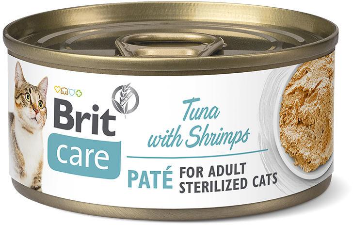 Brit Care Cat Sterilized Tuna with Shrimps Mokra karma z tuńczykiem i krewetkami 70g