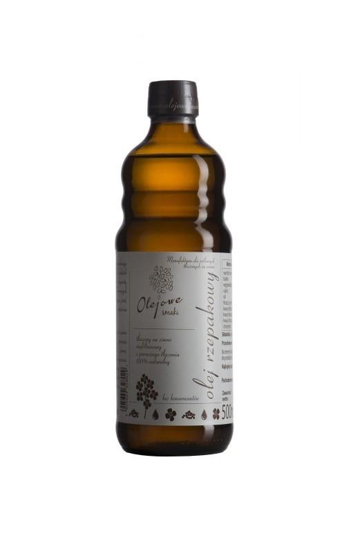 Olejowe Smaki olej Rzepakowy Zimnotłoczony 500 ml - Olejowe Smaki 36S_1174