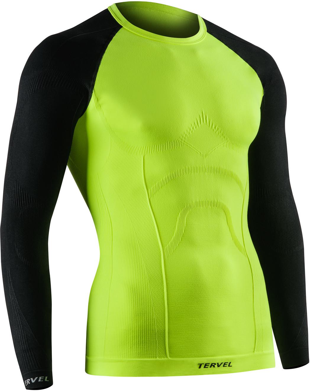TERVEL COMFORTLINE 1002 męska koszulka termoaktywna długi rękaw kolor Fluo-czarny