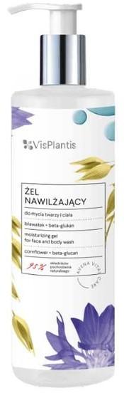 Vis Plantis Vis Plantis bławatek + beta-glukan Żel nawilżający do mycia twarzy i ciała 400ml