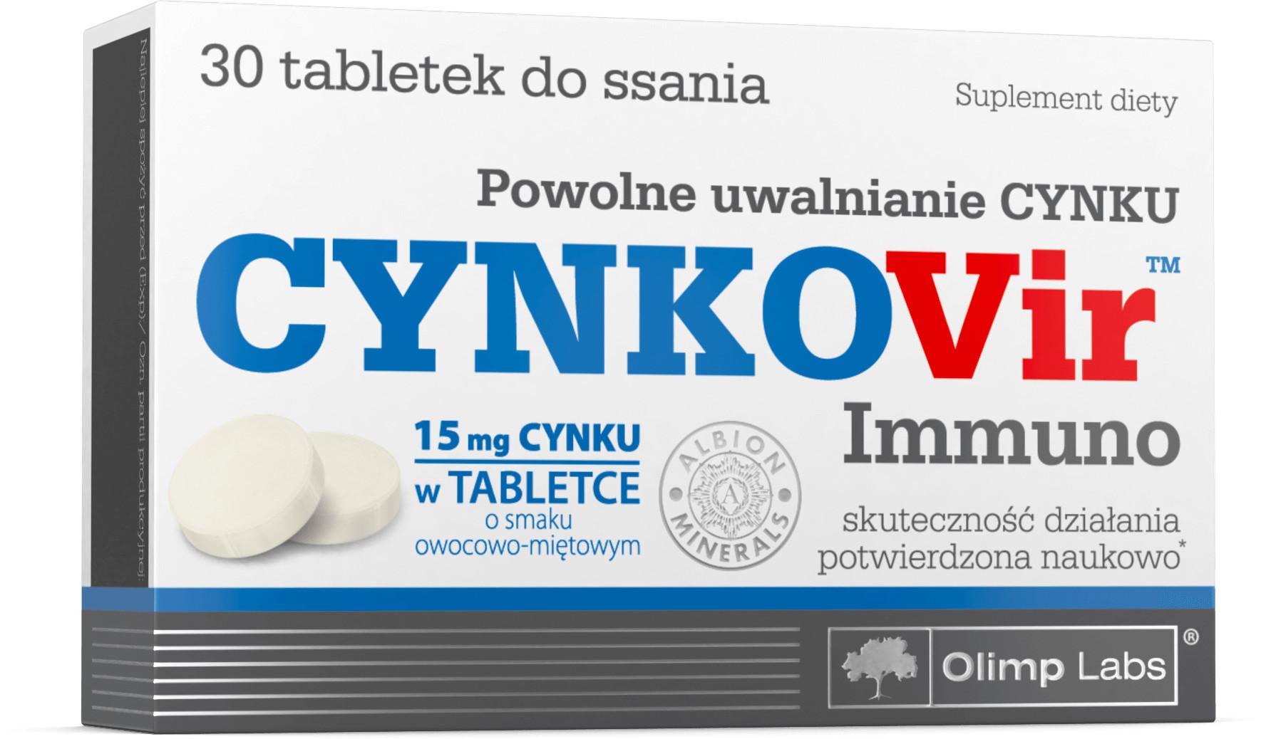 Olimp LABS Cynkovir Immuno x 30 tabl do ssania