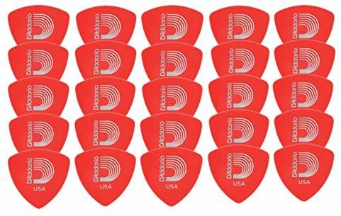 Planet Waves 2DRD1-25 Picks Duralin Picks Red 25 Picks Wide Shape in Super Light 2DRD1-25