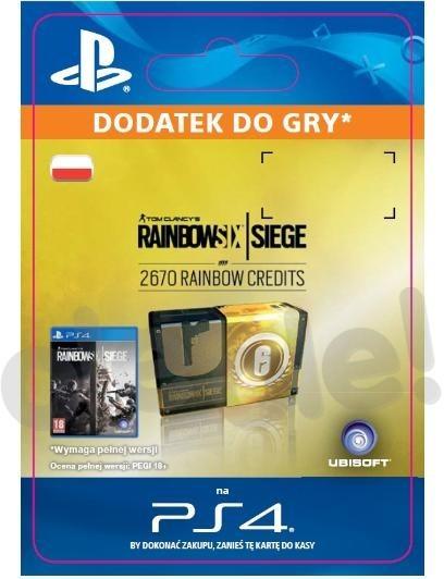 Tom Clancys Rainbow Six Siege 2670 Rainbow Credits (GRA PS4) wersja cyfrowa