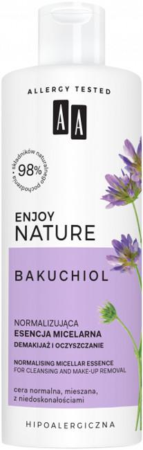 AA AA Enjoy Nature Bakuchiol Normalizująca esencja micelarna demakijaż i oczyszczanie 400ml