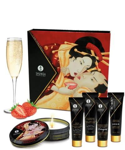 Shunga (CAN) Shunga (CAN) Shunga - Sparkling Strawberry Wine (zestaw) 6_4039
