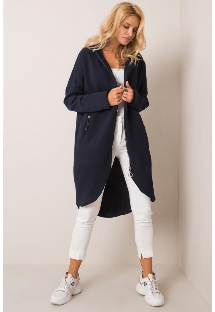 RUE PARIS Bluza dresowa damska-długa 8F41AY 8F41AY SAM  S/M