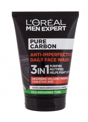 L´Oréal Paris L´Oréal Paris Men Expert Pure Carbon Anti-Imperfection 3in1 żel oczyszczający 100 ml dla mężczyzn
