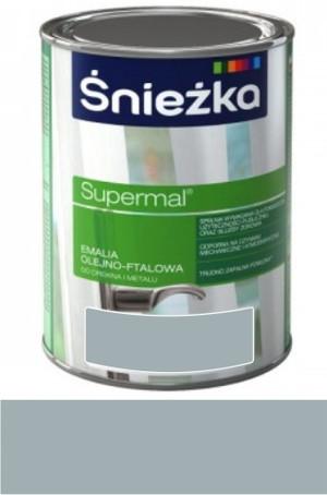 Śnieżka Emalia Supermal olejno-ftalowa stalowa RAL 7001 połysk 10l 889320