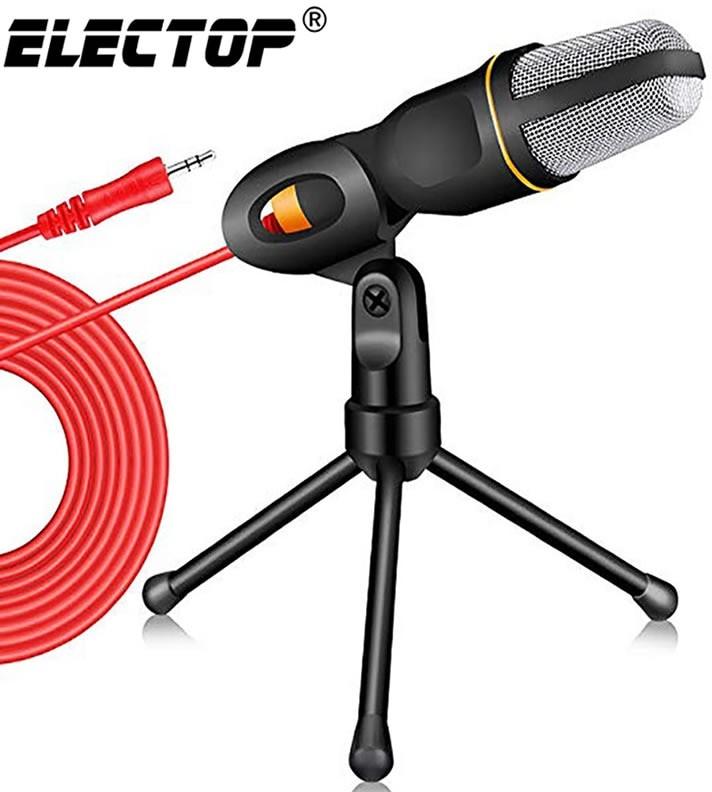 Nowy mikrofon kondensujący 3.5mm wtyk domowy mikrofon stereo statyw teleskopowy na PC YouTube wideo
