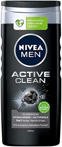 Nivea Men Active Clean pielęgnujący żel pod prysznic z węglem aktywnym 250 ml