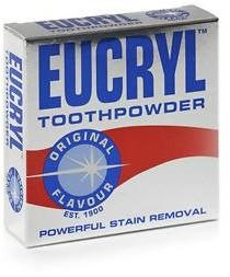 EUCRYL Toothpowder Original Flavour Puder do zębów usuwający przebarwienia 50 g 1234570135