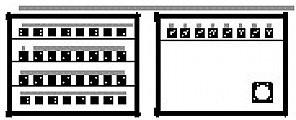 PROEL SNBOX32 Stage Box z 32 gniazdami XLR, 8 wtykami XLR, 1 wtyk męski CMIL150MP SNBOX32