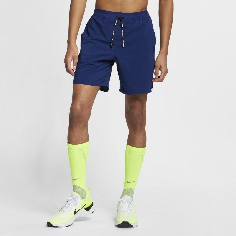 Nike Męskie spodenki do biegania 2 w 1 18 cm Dri-FIT Flex Stride - Niebieski AJ7784-492
