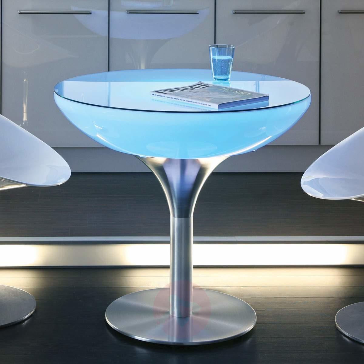 Moree Okrągły stół świecący LOUNGE, wysokość 75 cm