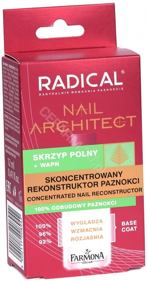 FARMONA Radical Nail Architect skoncentrowany rekonstruktor paznokci 12 ml