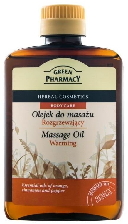 GREEN PHARMACY Massage Oil olejek do masażu ciała rozgrzewający Pomarańcza Cynamon i Pieprz 200ml 79003-uniw