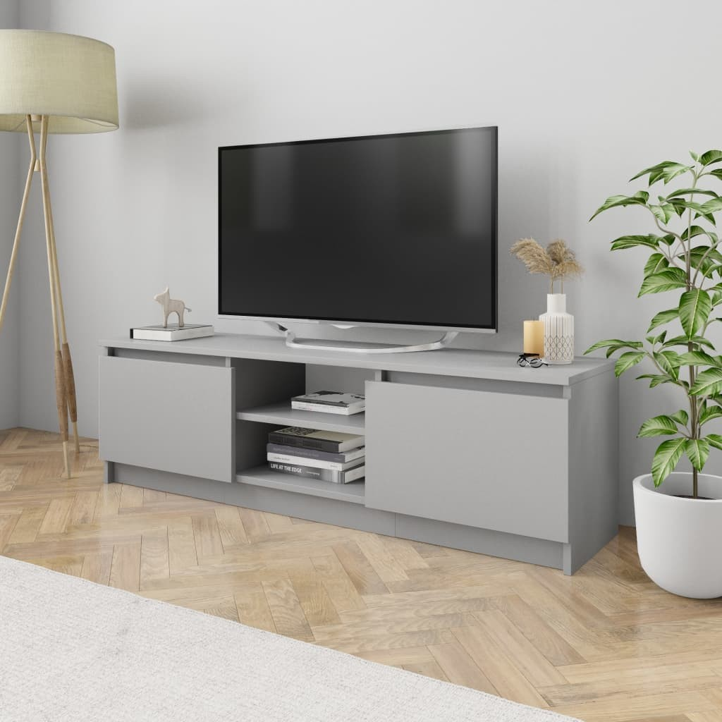 vidaXL vidaXL Szafka pod TV, szara, 120 x 30 x 35,5 cm, płyta wiórowa
