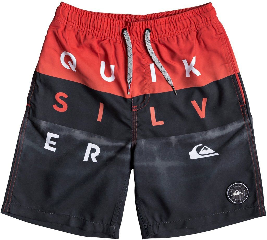 Quiksilver spodenki pływackie ęce WORD BLOCK VOLLEY 15 YOUTH High Risk Red RQC6