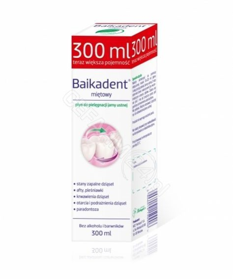 Herbapol WROCŁAW Baikadent płyn do pielęgnacji jamy ustnej miętowy 300 ml