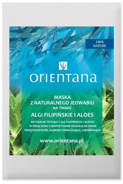 Orientana Anna Wasilewska Maska z naturalnego jedwabiu na twarz Algi filipińskie i aloes 1 sztuka 7058601