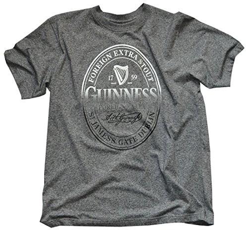 Guinness T-Shirt z Foreign Extra stout Bottle taśmy do druku, kolor szary -  s szary H1075