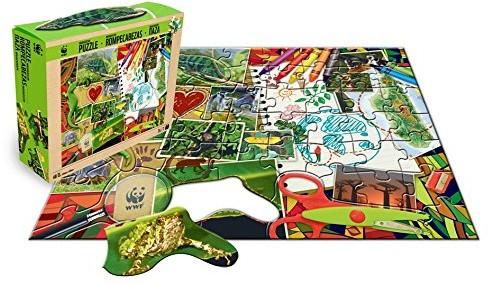 HCM Kinzel Terra Toys 29122-WWF dno puzzle Madagaskaru WWF991