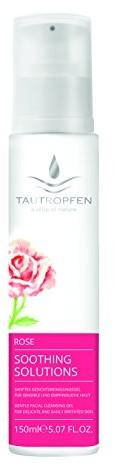 Tautropfen Żel do mycia kropli rosy Soothing/rose, subtelna twarzy dla delikatnej skóry i delikatnych, 150ML 1008