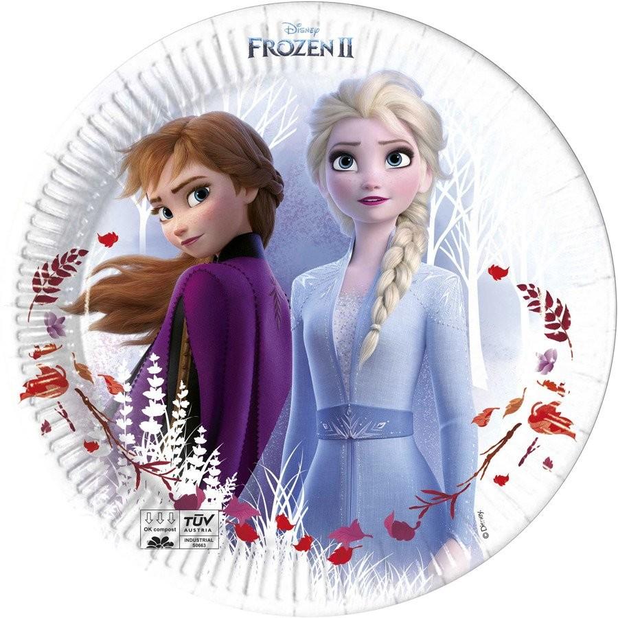 PROCOS DISNEY EKO Talerzyki urodzinowe Frozen 2 - 23 cm - 8 szt. 91146