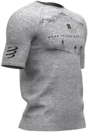 CompresSport Męska koszulka biegowa Training T-Shirt Mont Blanc 2019 szara