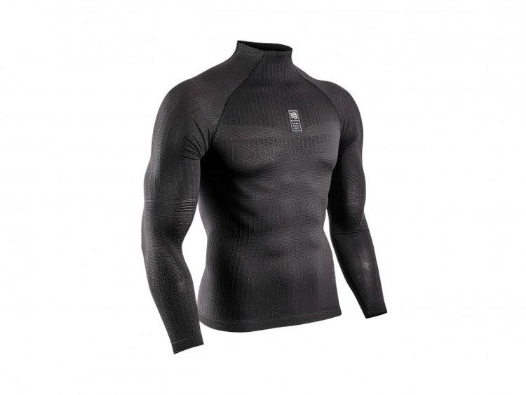 CompresSport koszulka termiczna z długim rękawem 3D Thermo 110g LS czarna