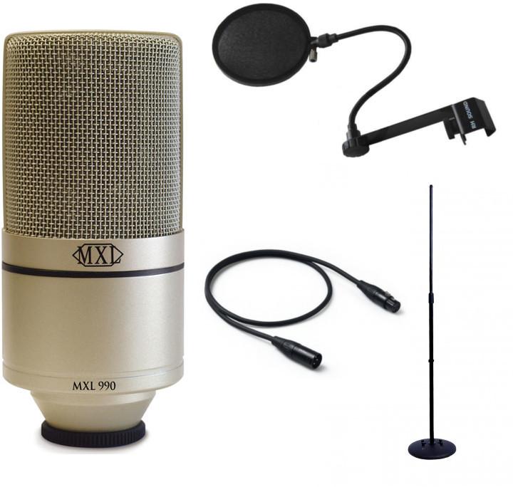 MXL 990 + Statyw + Pop filtr + kabel 3m 68329