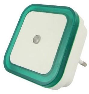 Baterie Centrum LED Nocne światło z czujnikiem LED/0,5W/230V zielone