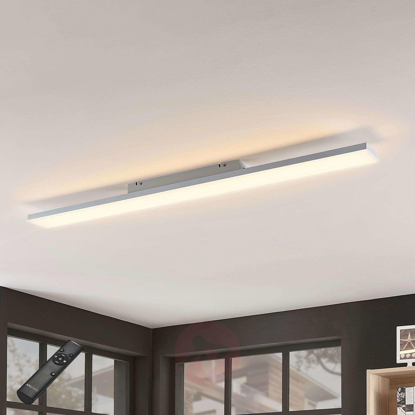 Lampenwelt com Panel LED Blaan CCT z pilotem 119,5 x 10 cm