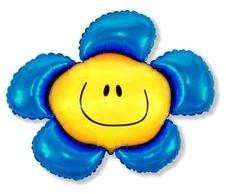 FLX Balon foliowy Kwiatek Niebieski 94 cm 901548A