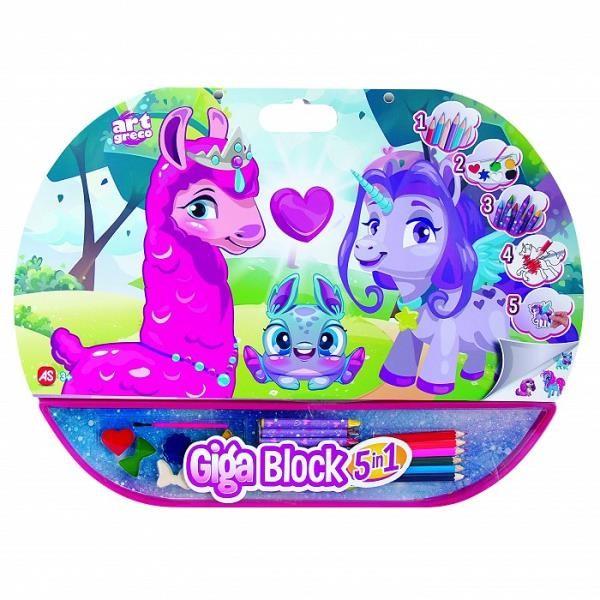 Pulio AS GIGA BLOCK Zestaw dla artysty 5w1 Lama 18062720