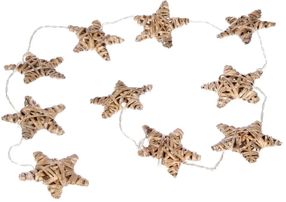 producent niezdefiniowany Gwiazdki LED wiklinowe brązowe w rustykalnym stylu dodadzą uroku każdemu pomieszczeniu 136647-brązow
