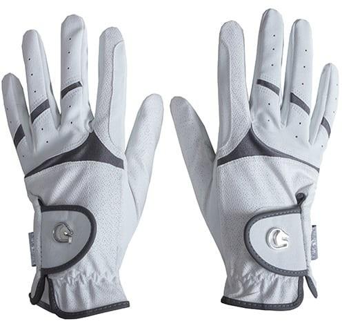 FP Rękawiczki jeździeckie CARIS - XS, biało-srebny