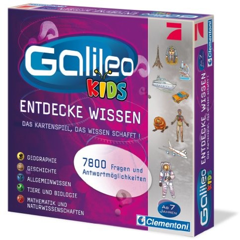 Clementoni 69159.3 - Galileo - dzieci Das grosse Wissens-Quiz