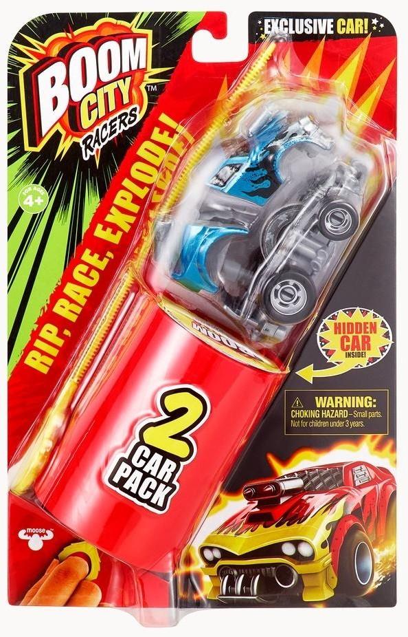 Boom City Racers Boom City Racers Fire It Up Samochód Dwupak Wyrzutnia 40056 0000044379