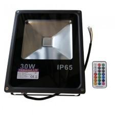 PREMIUM Naświetlacz LED RGB 30W + pilot radiowy LUX06161