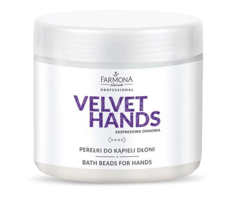 Farmona VELVET HANDS Perełki do kąpieli dłoni 380g