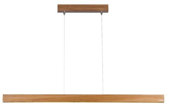 LoftLight Lampa wisząca drewniana do biura TEAK LINE szer. 119cm - 119 LLT TKL PE 119